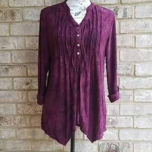NEW DIRECTIONS Blouse 3/4 Sleeve Sz L